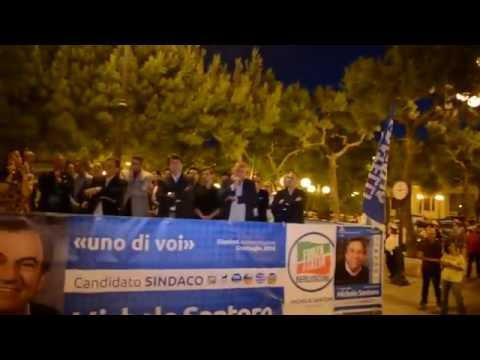 Chiusura campagna elettorale Michele Santoro