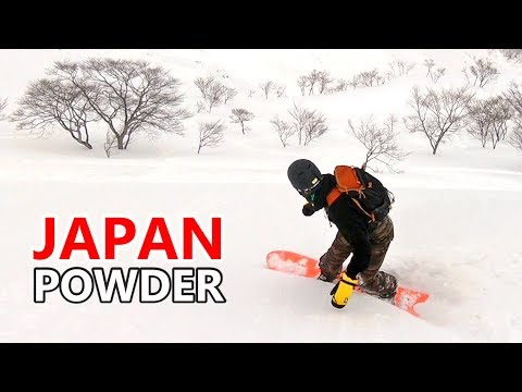 Japan Powder Snowboarding in Hakuba Happo-One