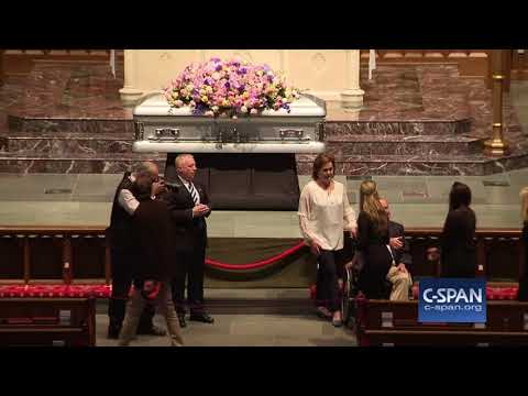 Word for Word: President George H.W. Bush Greets Mourners (C-SPAN)