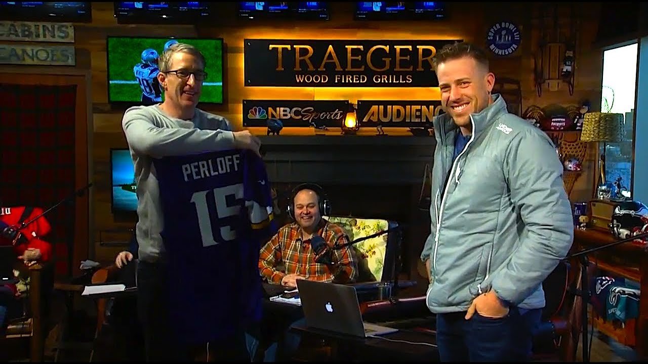 100% authentic 727c6 84ae8 Vikings QB Case Keenum Gifts McLovin a Jersey and a Pass | The Dan Patrick  Show | 02/01/18