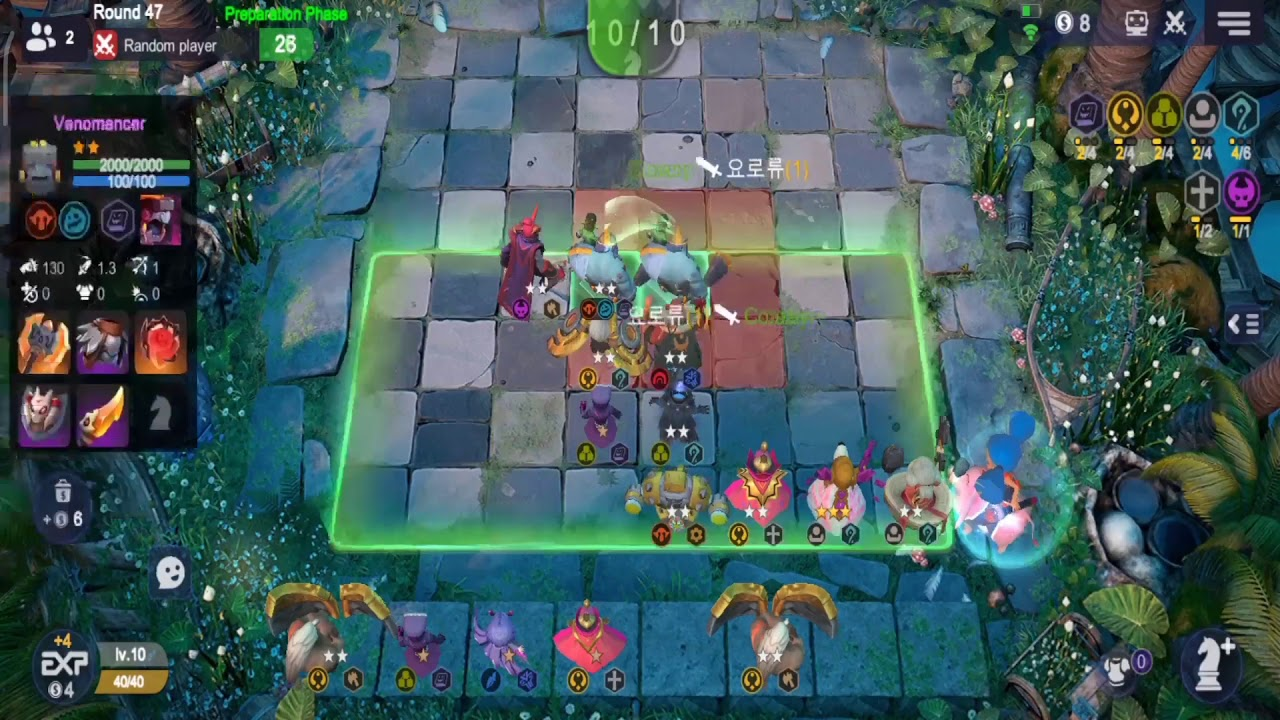 Auto Chess - Overpowered Venomancer (3 Stars) in Action with 0.2 Attack Speed