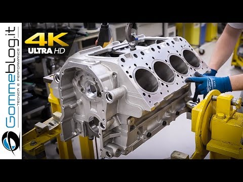V8 ENGINE - Car Factory Production Assembly Line