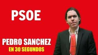 PEDRO SANCHEZ EN 30 SEGUNDOS