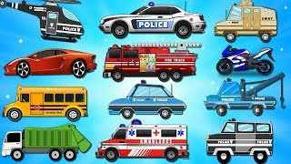 Police Car Wash | Bike Chase | Videos for Children | Kids Videos | Learn Vehicles