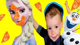 FROZEN GAMES Elsa Disney Princess Anna Sister Olaf BIRTHDAY PARTY IDEAS Kids Game Party Challenge