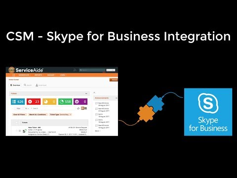 How to configure CSM - Skype for Business Integration for Administrators
