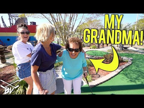 THE BEST THING TO EVER HAPPEN PLAYING MINI GOLF! - HER FIRST GAME IN 50 YEARS!