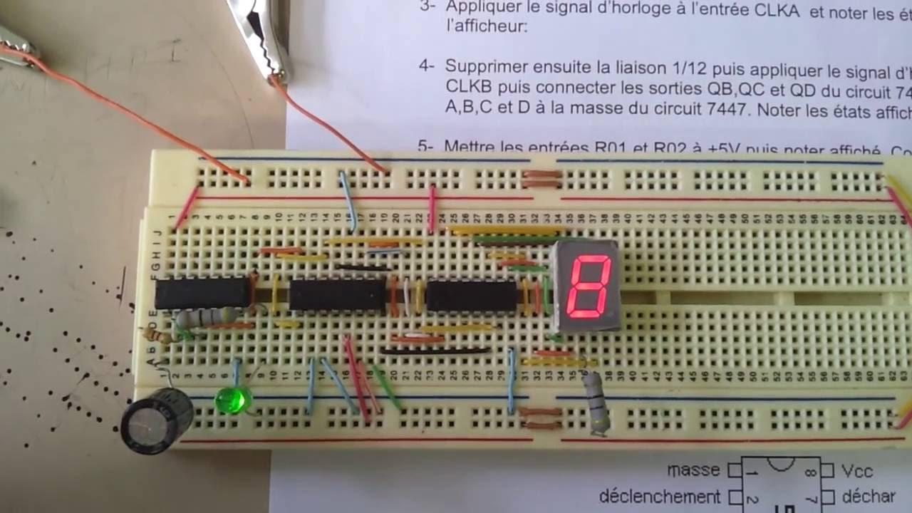 7490 7493 Logic Diagram Compteur Modulo Avec Circuit 1280x720