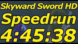 Skyward Sword HD Any% Speedrun in 4:45:38[World Record]