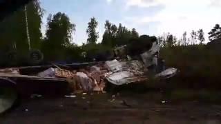 На трассе Екатеринбурга перевернулась фура с грузом