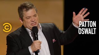 patton oswalt tragedy plus comedy equals time supermarket depression