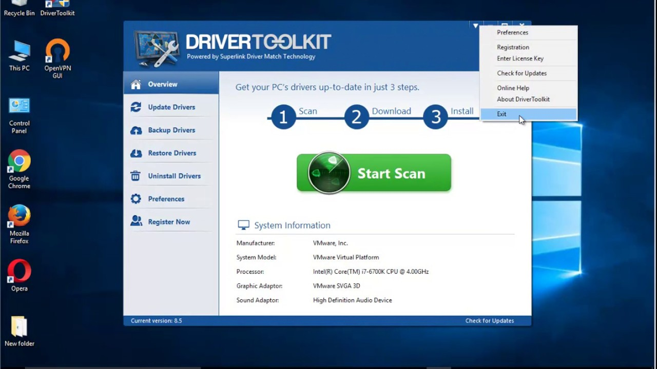 drivertoolkit version 8.5 0.0