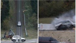 Esto es lo que pasa cuando un auto choca a 200 km/h [VIDEO]