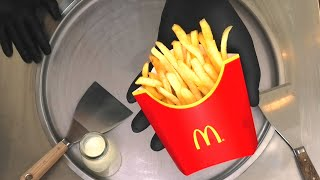 McDonalds Fries Ice Cream Rolls | how to make Mc Donalds French Fries Chips fried Ice Cream | ASMR