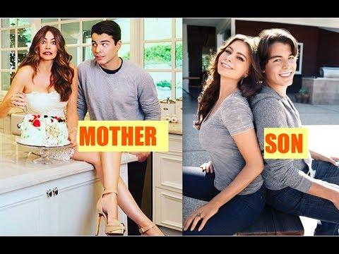 Sofia Vergara with super handsome son Manolo Gonzalez-Ripoll Vergara.