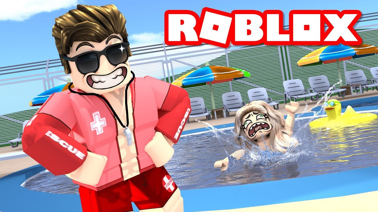Opening a PUBLIC POOL in ROBLOX BLOXBURG    it was funny