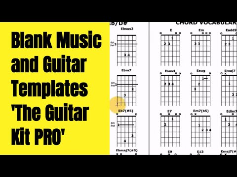 Blank Music and Guitar Templates 'The Guitar Kit PRO' (now www.TrueGuitarist.com)