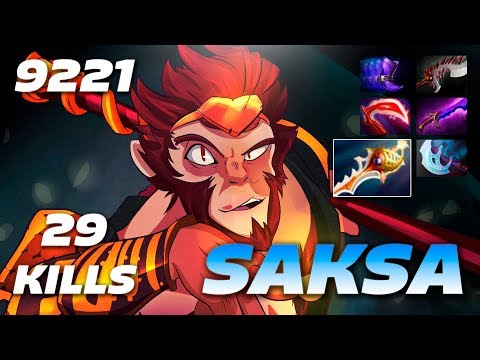 Saksa Monkey King 29 KILLS RAPIER | 9221 MMR Dota 2