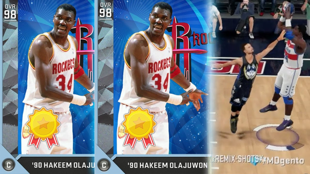 NBA 2K16 MyTEAM Diamond 98 OVR Hakeem Olajuwon Debut The Dream