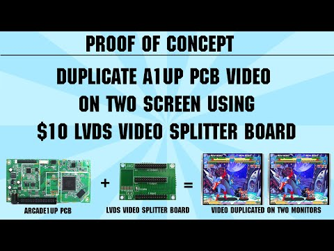 PROOF OF CONCEPT: Duplicate Arcade1up PCB Video On Two Screens Using $10 LVDS Video Splitter Board from TheRealSmilebit