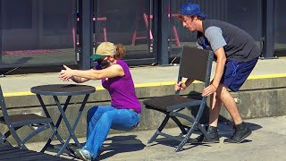 Chair Pulling Prank