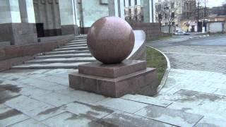 Скульптура, украшение ''ШАР'' у входа в Российскую Национальную Библиотеку, Санкт-Петербург
