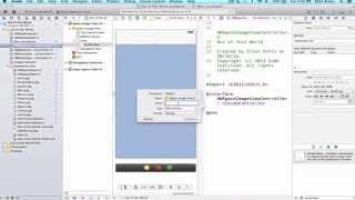 iOS Programming Tutorial - Configure Second View Controller in Storyboard in xCode - 3