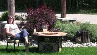 Enjoy Your Backyard With The Agio Heritage Firepit Table