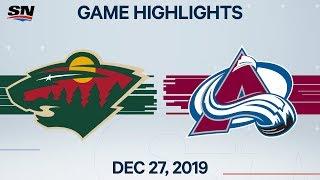 NHL Highlights   Wild vs. Avalanche – Dec. 27, 2019
