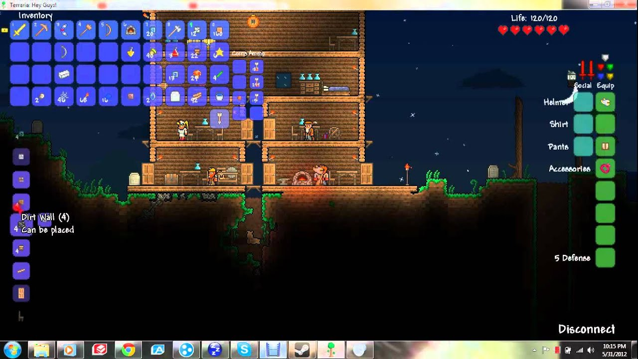 Let's Play Terraria - Part 13 Chimney Tutorial with Smoke! - YouTube