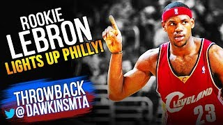 ROOKiE LeBron James LIGHTS UP Philly With 36 Pts, 5 Asts, 5 Threes 2003.12.19 | FULL PLAY!