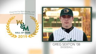 2019 W&M Athletics Hall of Fame - Greg Sexton '08 Baseball