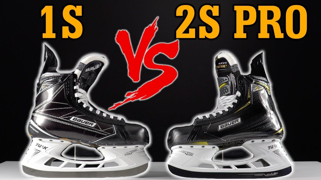 Bauer Supreme 1s Vs 2s Pro Hockey Skates Real Detailed Review