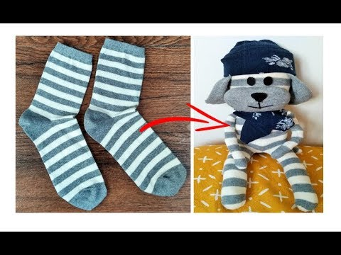 reciclar-ropa---peluche-de-calcetines---diy:-reuse/recycle-old-jeans---transform-your-clothes