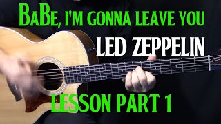 Watch Led Zeppelin Babe Im Gonna Leave You video