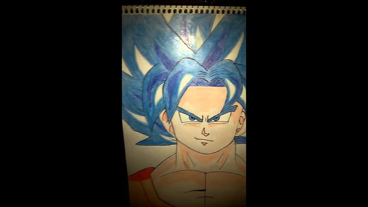 Dibujos Para Colorear De Goku Fase Dios: Dibujo Goku Fase Dios Azul