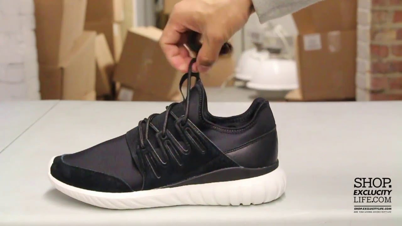 Adidas Tubular Radial Black - White Unboxing Video at Exclucity - YouTube