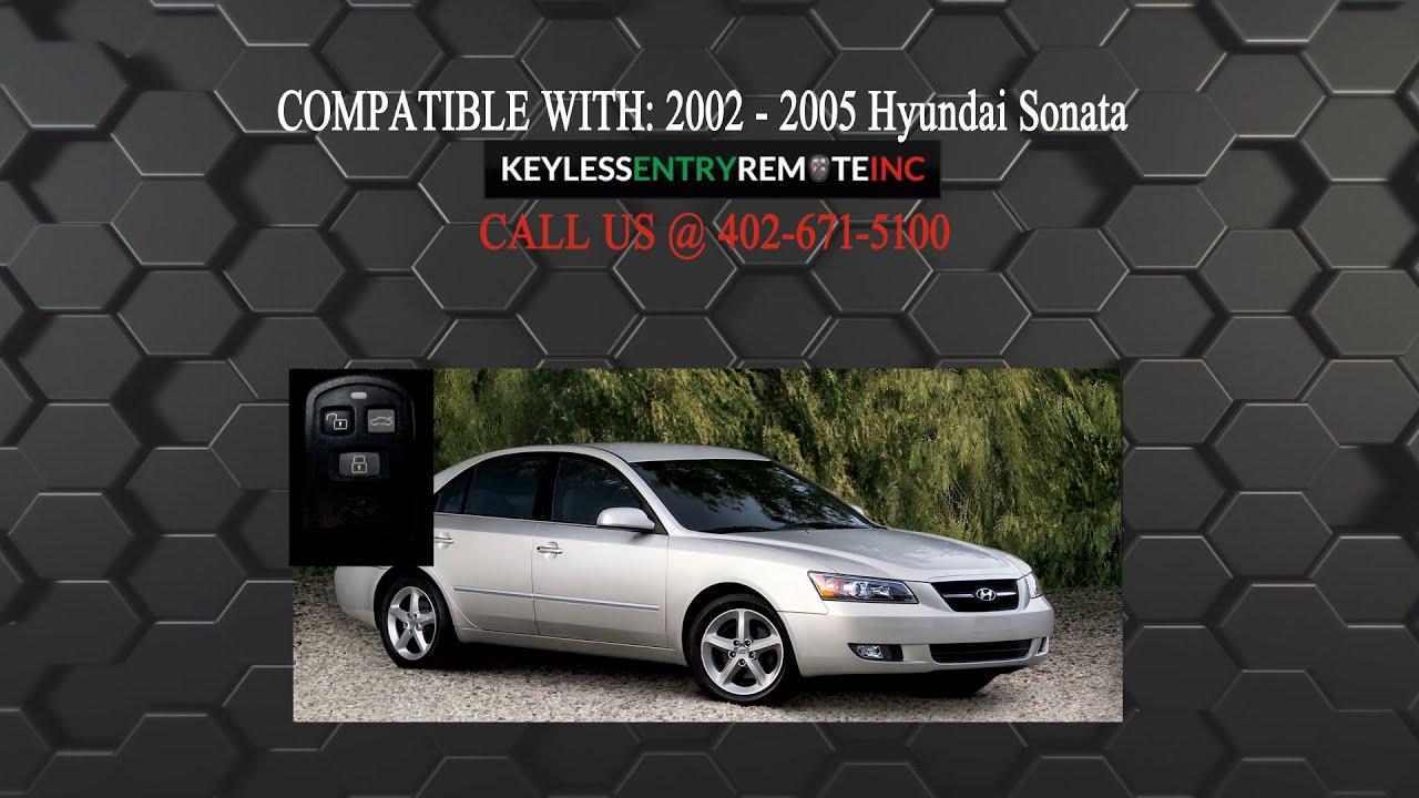 How To Replace Hyundai Sonata Key Fob Battery 2002 2005 Youtube