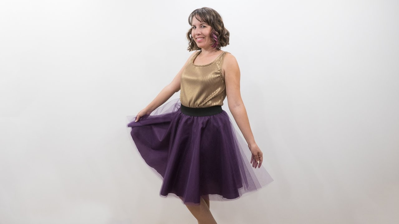 How to Sew a Tulle Skirt - Pattern and Assembly - YouTube