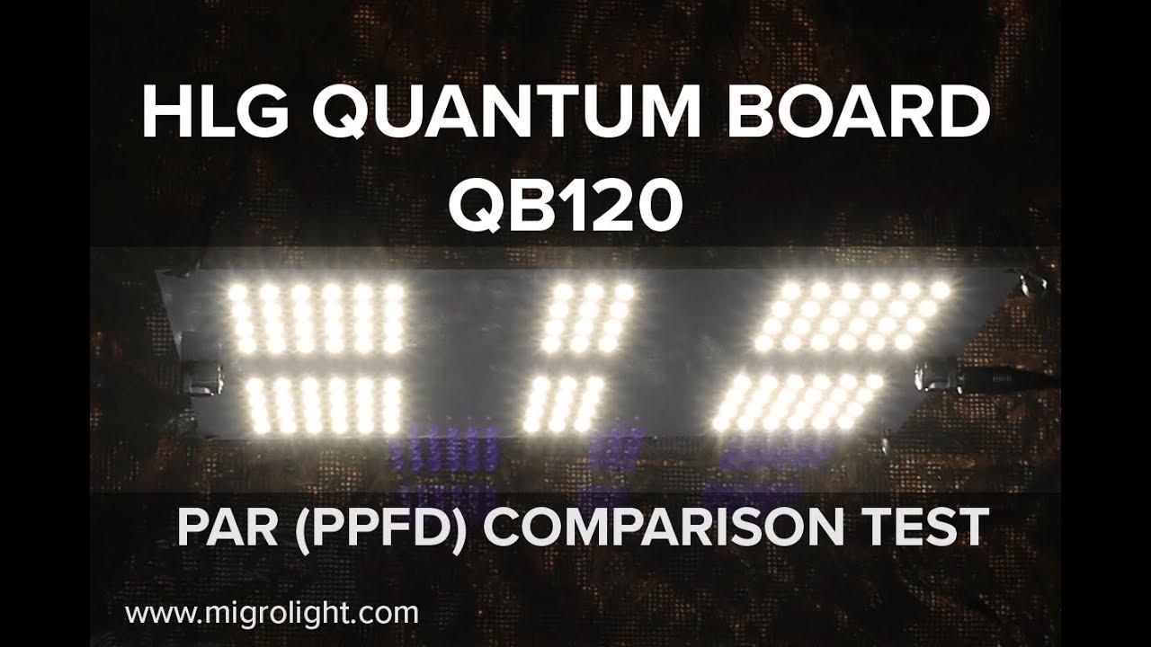 Hlg Quantum Board Qb120 Par Test And Comparison Youtube Led Light Circuit Buy Boardled