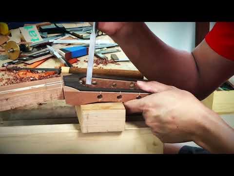 ทำกีตาร์ด้วยตัวเอง EP.5 How to making a guitar neck. Custom guitar by Thai Luther