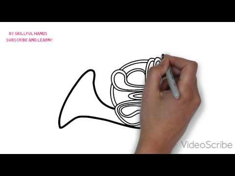 Как нарисовать валторну