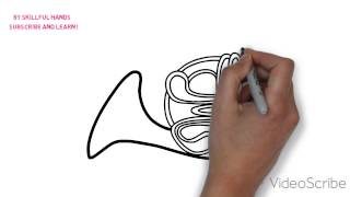 How to Draw a french horn / Как нарисовать валторна(Drawing Channel - https://www.youtube.com/channel/UCaZm6IvtL9zNeDwQi571asA/videos Канал для рисования ..., 2015-05-09T09:09:05.000Z)