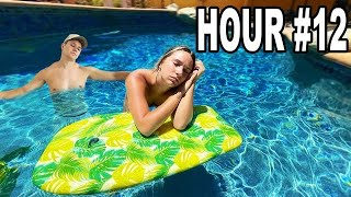 spending 24 hours STRAIGHT in my pool