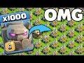 1000 Max Golem VS 500 Max Eagle Artillery Attack GamePlay | COC Mod server