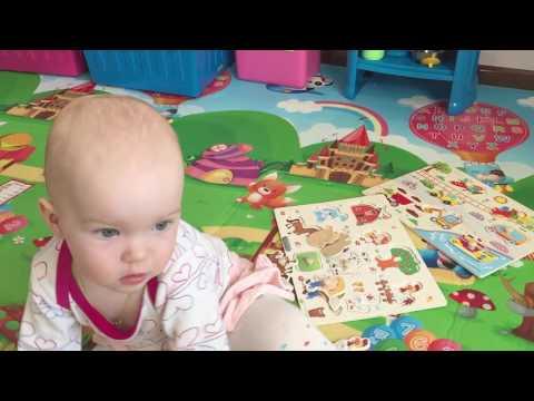 Игры для малышей. Ребенку 1 год. Развивающие игры для детей. Рамки и вкладыши.