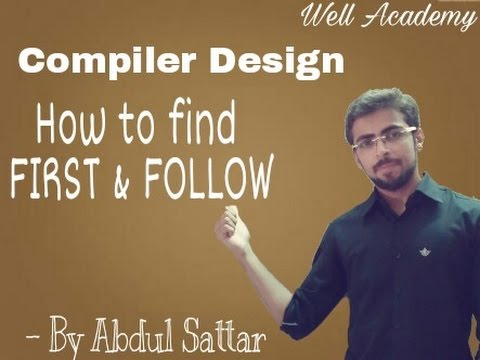 Compiler Design Lecture -- How to find First & Follow (Eng - hindi)