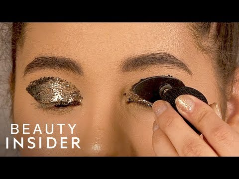How To Instantly Apply Glitter Eyeshadow With A Stamp