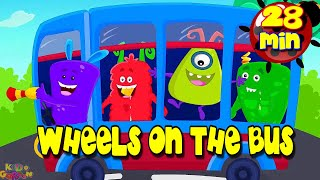 Wheels on The Bus ️????️???? + More Nursery Rhymes and Kids Song – Popular Children Music with lyrics