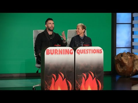 Adam Levine Answers Ellen's 'Burning Questions'